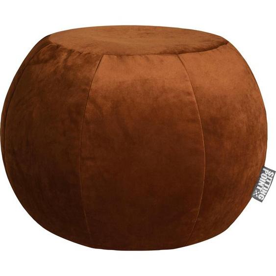 Sitzsack, braun, Material Polystyrol / Samt / Polyester »Sitzhocker Plump VELUTO«, Sitting Point