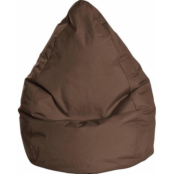 Sitzsack »BRAVAL L«, B/T/H: 70x70x120 cm, braun, Material Polystyrol / Polyester, Sitting Point