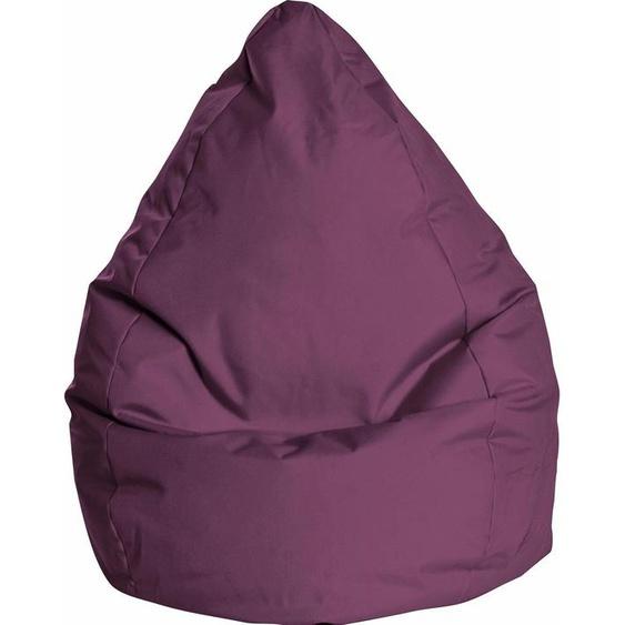 Sitzsack »BRAVAL L«, B/T/H: 70x70x120 cm, lila, Material Polystyrol / Polyester, Sitting Point
