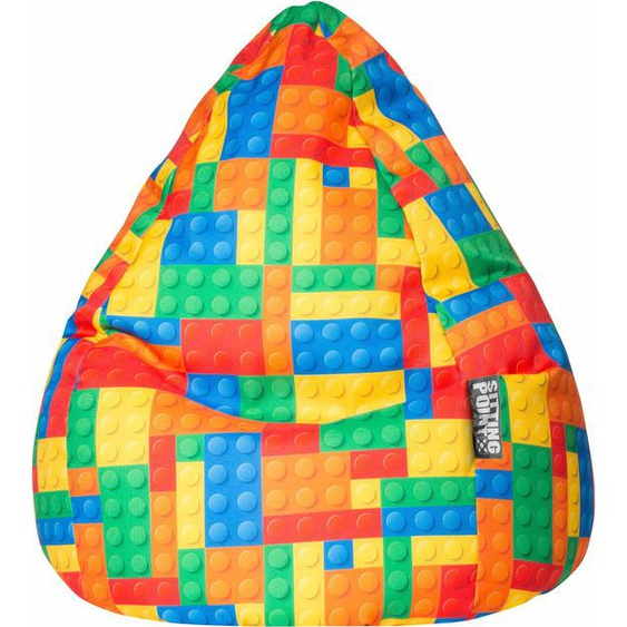 Sitzsack »Bricks Cat XL«, mehrfarbig, Material Polystyrol / Polyester, Sitting Point