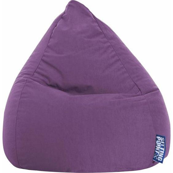 Sitzsack »EASY L«, lila, Material Polystyrol / Polyester, Sitting Point
