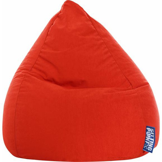 Sitzsack »EASY L«, rot, Material Polystyrol / Polyester, Sitting Point
