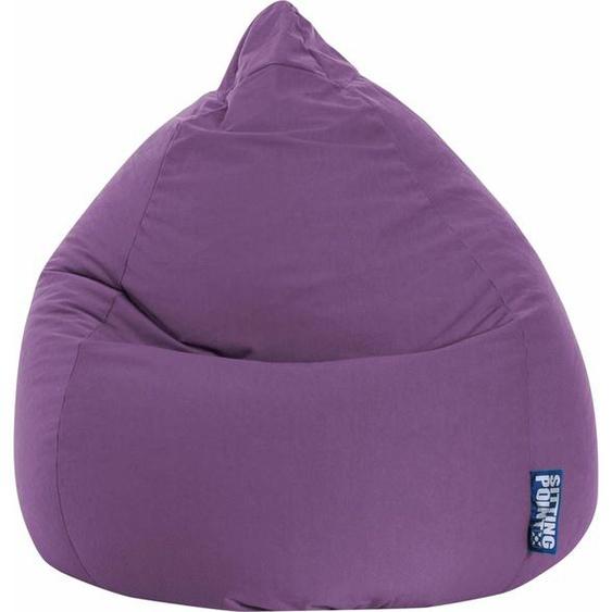 Sitzsack »EASY XL«, lila, Material Polystyrol / Polyester, Magma Heimtex