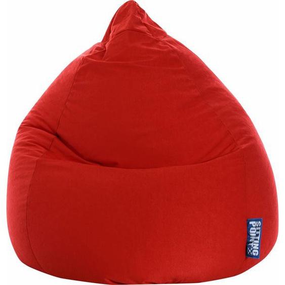 Sitzsack »EASY XL«, rot, Material Polystyrol / Polyester, Magma Heimtex