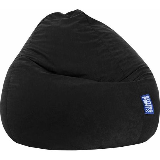 Sitzsack »EASY XXL«, schwarz, Material Polystyrol / Polyester, Sitting Point