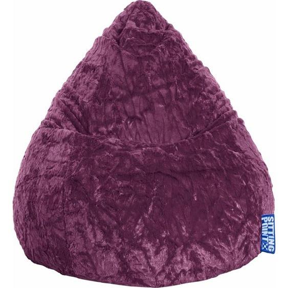 Sitzsack »Fluffy L«, lila, Material Polystyrol / Polyester, Sitting Point