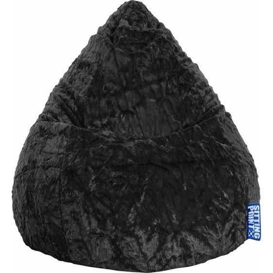 Sitzsack »Fluffy L«, schwarz, Material Polystyrol / Polyester, Sitting Point
