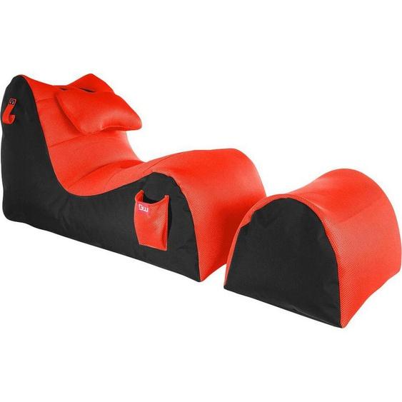 Sitzsack »Gaming Sitzsack«, große Seitentasche, Kopfhöreraufnahme, schwarz