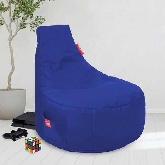 Sitzsack »Gaming Sitzsack«, große seitliche Tasche, blau