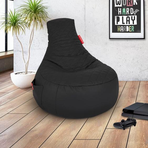 Sitzsack »Gaming Sitzsack«, große seitliche Tasche, schwarz
