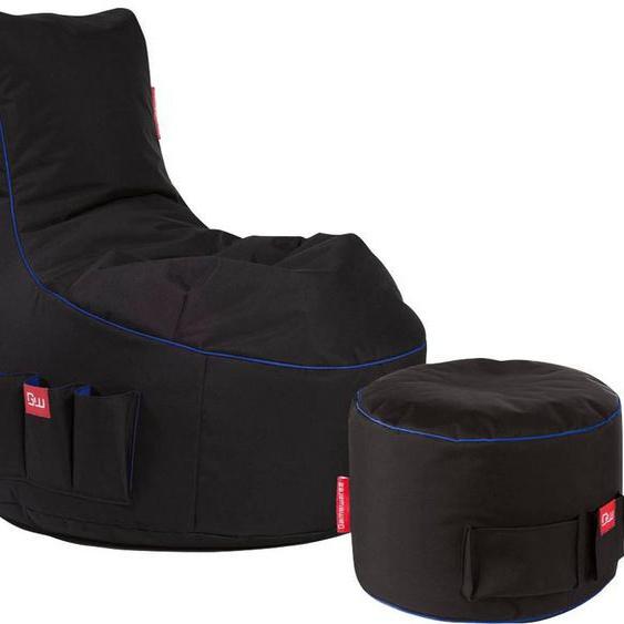 Sitzsack »Gaming Sitzsack«, Multifunktionstasche, Kopfhöreraufnahme, schwarz