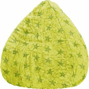 Sitzsack, grün, Material Polystyrol / Polyester »Fluffy Stars XL«, Sitting Point