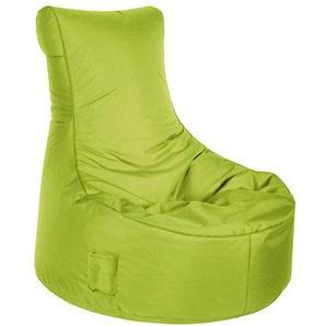 Sitzsack in grün  Material aus 100 % Polyester, Füllung aus 100 % Polystyrol, mit Keder und Tasche, 300 l Volumen, Maße: B/H/T ca. 95/90/65 cm