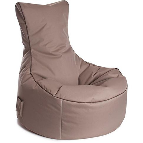 Sitzsack in khaki Material aus 100 % Polyester, Füllung aus 100 % Polystyrol, mit Keder und Tasche, 300 l Volumen, Maße: B/H/T ca. 95/90/65 cm