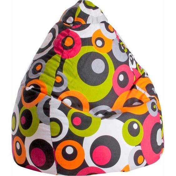 Sitzsack »Malibu L«, orange, Material Baumwolle / Polystyrol, Sitting Point