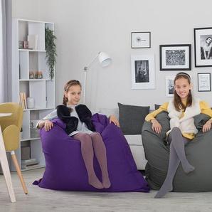 Sitzsack mit Innensack 140 x 180 cm dunkelgrau