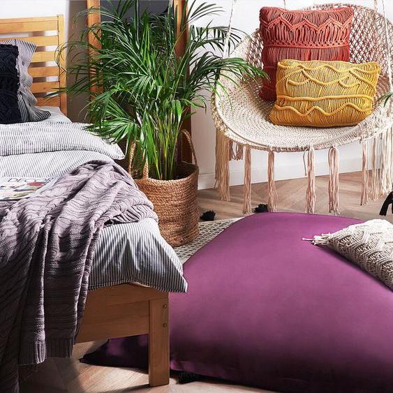 Sitzsack mit Innensack für In- und Outdoor 140 x 180 cm lila