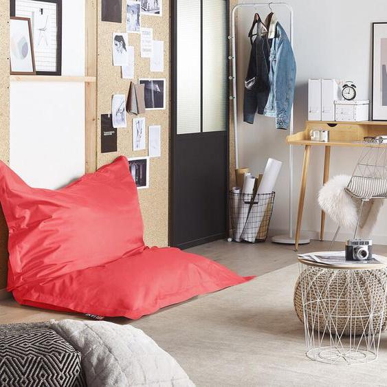 Sitzsack mit Innensack für In- und Outdoor 140 x 180 cm rot