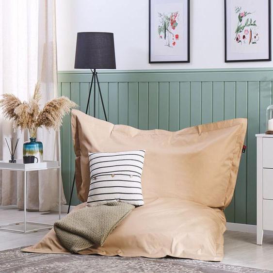 Sitzsack mit Innensack für In- und Outdoor 140 x 180 cm sandbraun