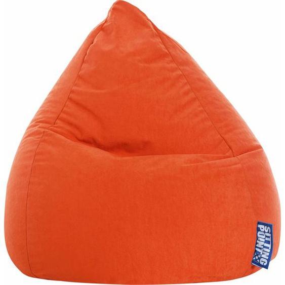 Sitzsack, orange, Material Polystyrol / Polyester »EASY L«, Sitting Point