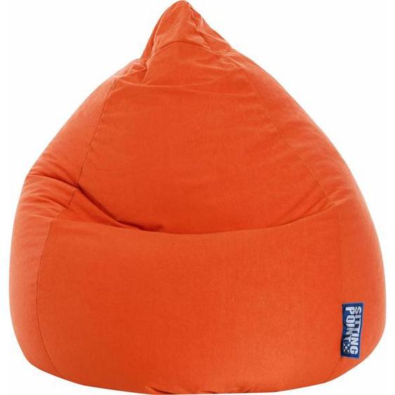 Sitzsack, orange, Material Polystyrol / Polyester »EASY XL«, Magma Heimtex