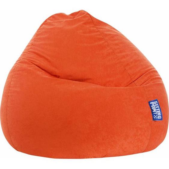 Sitzsack, orange, Material Polystyrol / Polyester »EASY XXL«, Sitting Point