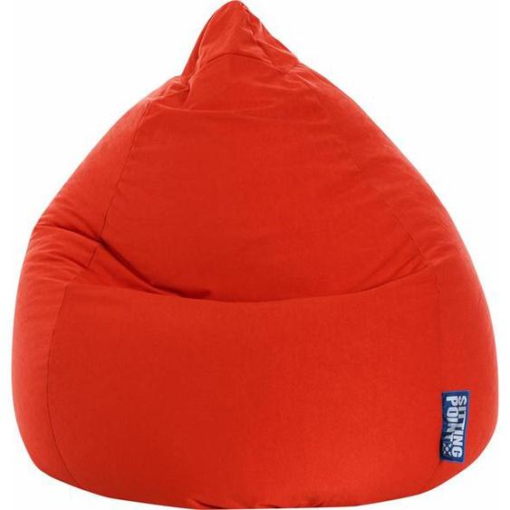 Sitzsack, rot, Material Polystyrol / Polyester »EASY XL«, Magma Heimtex