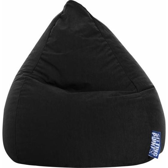 Sitzsack, schwarz, Material Polystyrol / Polyester »EASY L«, Sitting Point