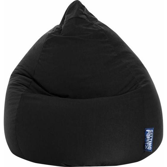 Sitzsack, schwarz, Material Polystyrol / Polyester »EASY XL«, Magma Heimtex