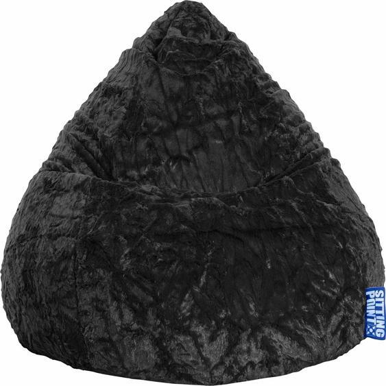 Sitzsack, schwarz, Material Polystyrol / Polyester »Fluffy XL«, Sitting Point