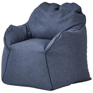 Sitzsack-Sessel  Tedd ¦ blau ¦ Maße (cm): B: 85 H: 70 T: 80