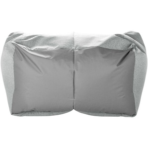 Sitzsack-Sofa  Lou ¦ grau ¦ Maße (cm): B: 130 H: 95 T: 80