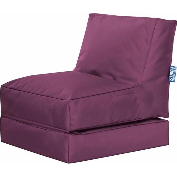 Sitzsack »Twist Scuba«, B/T/H: 70x180x80 cm, lila, Material Polyester / Polystyrol, Sitting Point