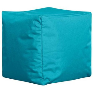 Sitzsack W�rfel in T�rkis Outdoor