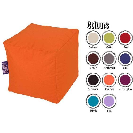 Sitzwürfel in Orange outdoor geeignet