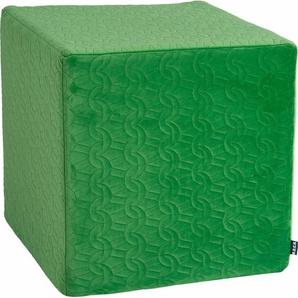 Sitzwürfel , grün, 1x 45x45cm, schmutzabweisend, »Soft Nobile«, , , H.O.C.K.