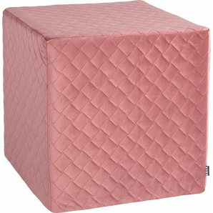 Sitzwürfel , rosa, 1x 45x45cm, schmutzabweisend, »Soft Nobile«, , , H.O.C.K.