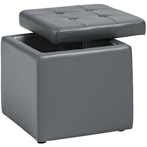 Home affaire Sitzwürfel, grau, 1x 41x41cm