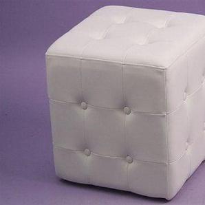 Sitzwürfel 0, Einheitsgröße weiß Sitzkissen Hocker