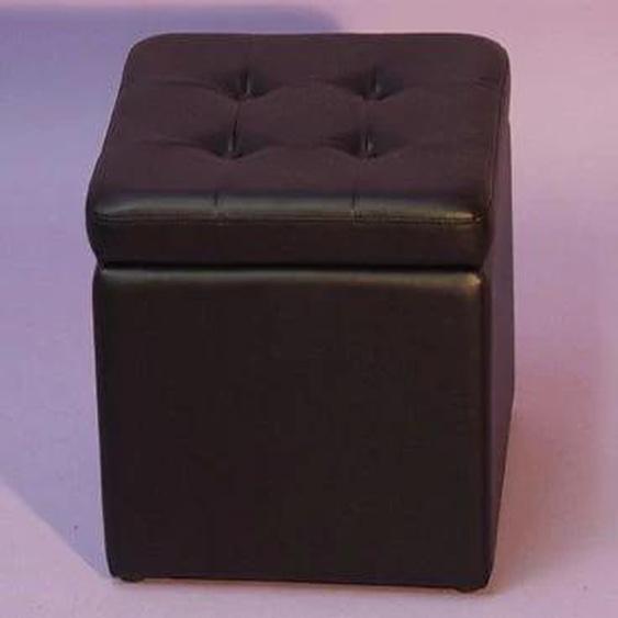 Sitzwürfel Einheitsgröße schwarz Sitzkissen Hocker