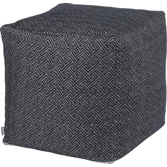 Sitzwürfel »Onixemon«, 1x 40x40 cm, allergikergeeignet, schwarz, H.O.C.K., gemustert, mit abnehmbarem Bezug