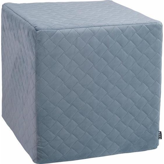 Sitzwürfel »Soft Nobile«, 1x 45x45 cm, blau, H.O.C.K., bedruckt, schmutzabweisend, mit abnehmbarem Bezug