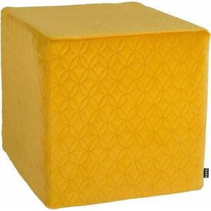 Sitzwürfel »Soft Nobile«, gelb, 1x 45x45cm, schmutzabweisend, , , H.O.C.K.