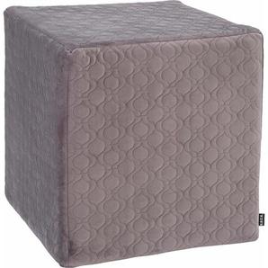 Sitzwürfel »Soft Nobile«, grau, 1x 45x45cm, schmutzabweisend, , , H.O.C.K.