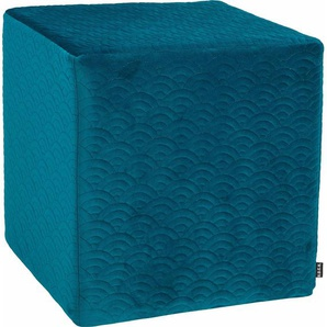Sitzwürfel »Soft Nobile«, grün, 1x 45x45cm, schmutzabweisend, , , H.O.C.K.