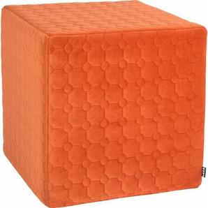 Sitzwürfel »Soft Nobile«, orange, 1x 45x45cm, schmutzabweisend, , , H.O.C.K.