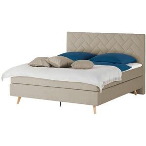 SKAGEN BEDS Boxspringbett  Weave ¦ beige