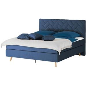 SKAGEN BEDS Boxspringbett  Weave ¦ blau
