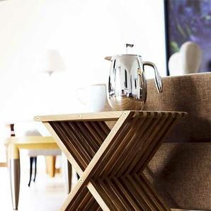 Skagerak Denmark Hocker Fionia beige, Designer Jens Quistgaard, 44x40x33.5 cm