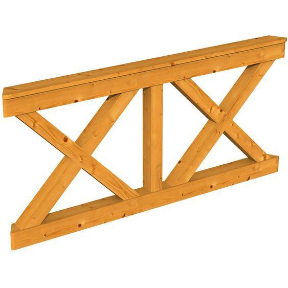 Skan Holz Brüstung Andreaskreuz 180 x 84 cm Fichte Eiche hell